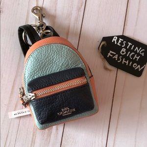 COACH keychain backpack
